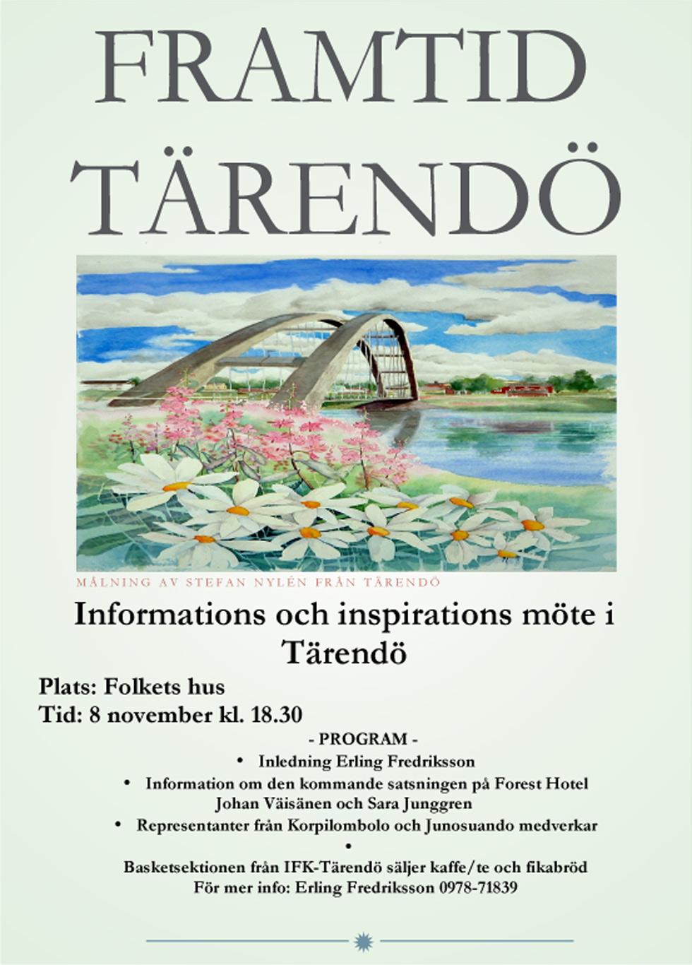 Framtid Tärendö - Inspirations och informationsmöte 8 november